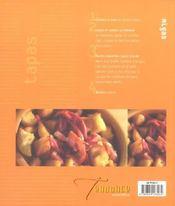 Tapas - 4ème de couverture - Format classique