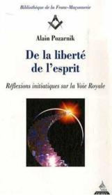 De La Liberte De L'Esprit - Couverture - Format classique