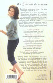 Mes 5 Secrets De Jeunesse - 4ème de couverture - Format classique