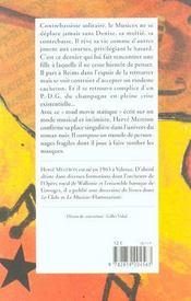 Le Carnaval Du Musicos - 4ème de couverture - Format classique