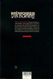 Memoires D'Un Incapable - 4ème de couverture - Format classique