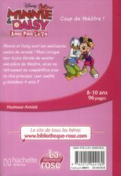 Minnie & Daisy, amies pour la vie t.1 ; coup de théâtre ! - 4ème de couverture - Format classique
