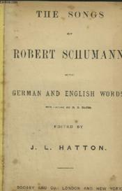 The Songs Of Robert Schumann - With German And English Words. - Couverture - Format classique
