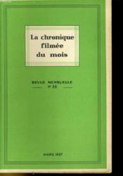 La Chronique Filmee Du Mois N°36 - Couverture - Format classique