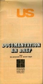 L'Us - Documentation En Bref Pour Les Personnels Du Second Degre - Couverture - Format classique