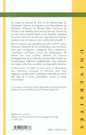 La Renaissance - 4ème de couverture - Format classique
