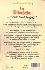 La Tchatche ... Pour Tout Bagage ! - 4ème de couverture - Format classique