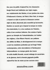 Sergio Rossi - 4ème de couverture - Format classique