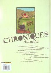 Chroniques absurdes t.3 ; un monde barbare - 4ème de couverture - Format classique