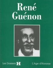 Rene Guenon (Dossier H) - Couverture - Format classique