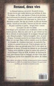 Renaud Deux Vies - 4ème de couverture - Format classique