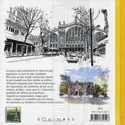 Carnet De Paris Les Gares - 4ème de couverture - Format classique