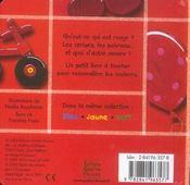 Rouge - 4ème de couverture - Format classique