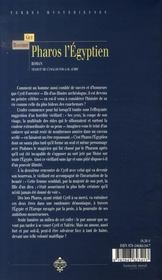 Pharos l'égyptien - 4ème de couverture - Format classique