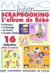 Scrapbooking, l'album de bebe - Intérieur - Format classique