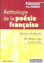 Anthologie De La Poesie Francaise - Intérieur - Format classique