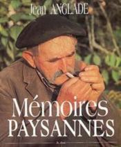 Mémoires paysannes - Couverture - Format classique