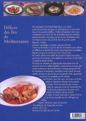 Delices Des Iles De Mediterranee - 4ème de couverture - Format classique