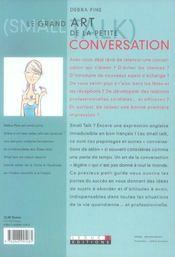 Le grand art de la petite conversation - 4ème de couverture - Format classique