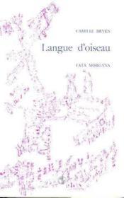 Langue D'Oiseau - Couverture - Format classique