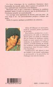 Le Monde Arabe Au Feminin - 4ème de couverture - Format classique