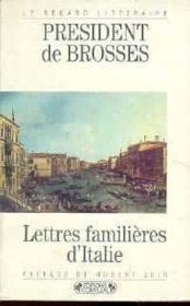 Lettres familieres d'Italie - Couverture - Format classique