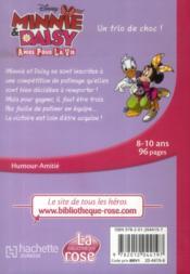 Minnie & Daisy, amies pour la vie t.2 ; un trio de choc ! - 4ème de couverture - Format classique