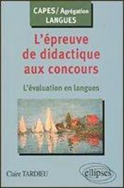 L'épreuve de didactique aux concours : l'évaluation en langues - Intérieur - Format classique