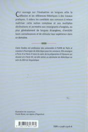 L'épreuve de didactique aux concours : l'évaluation en langues - 4ème de couverture - Format classique