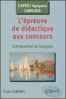 L'épreuve de didactique aux concours : l'évaluation en langues - Couverture - Format classique