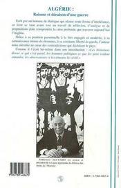 Algérie - 4ème de couverture - Format classique