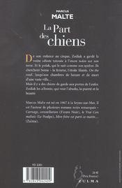 La Part Des Chiens - 4ème de couverture - Format classique