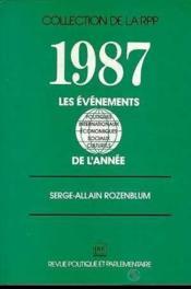 Les 1987 evenements de l'annee - Couverture - Format classique