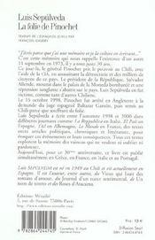 Folie De Pinochet (La) - 4ème de couverture - Format classique