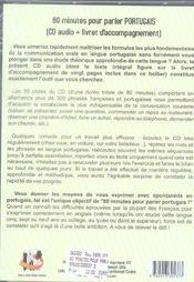 80 Minutes Pour Parler Portugais - 4ème de couverture - Format classique