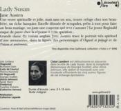 Lady Susan - 4ème de couverture - Format classique