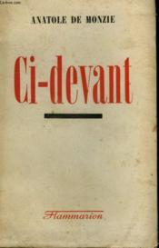 Ci-Devant. - Couverture - Format classique