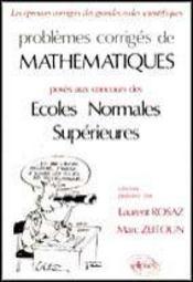 Problemes Corriges De Mathematiques E.N.S.Tome 2 1986-1990 - Intérieur - Format classique