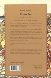 Rivages Fantasy ; La Roue Du Temps ; Etincelles - 4ème de couverture - Format classique