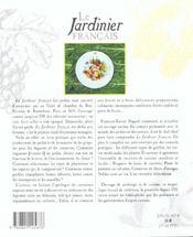 Le jardinier francais - 4ème de couverture - Format classique