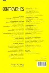 Controverses N.4 ; Les Alterjuifs - 4ème de couverture - Format classique