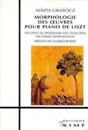 Morphologie Des Oeuvres Pour Piano De Liszt - Couverture - Format classique