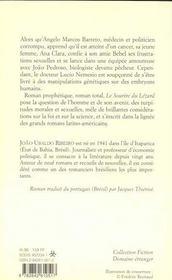 Le Sourire Du Lezard - 4ème de couverture - Format classique