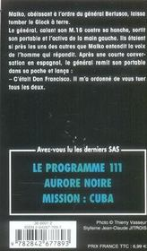 SAS t.162 ; que la bête meure - 4ème de couverture - Format classique