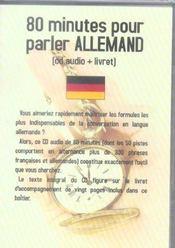 80 Minutes Pour Parler Allemand - Intérieur - Format classique