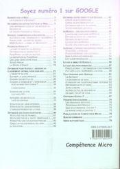 Competence Micro ; Soyez Numero 1 Sur Google - 4ème de couverture - Format classique