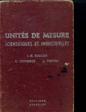 Unites De Mesure Scientifiques Et Industrielles - Couverture - Format classique