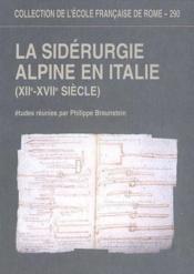 La Siderurgie Alpine En Italie (Xiie-Xviie Siecle) - Couverture - Format classique