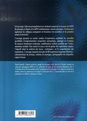 Nouvelles experiences de physique ; préparation à l'oral du capes de physique et chimie - 4ème de couverture - Format classique