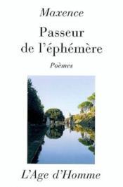 Passeur De L'Ephemere - Couverture - Format classique